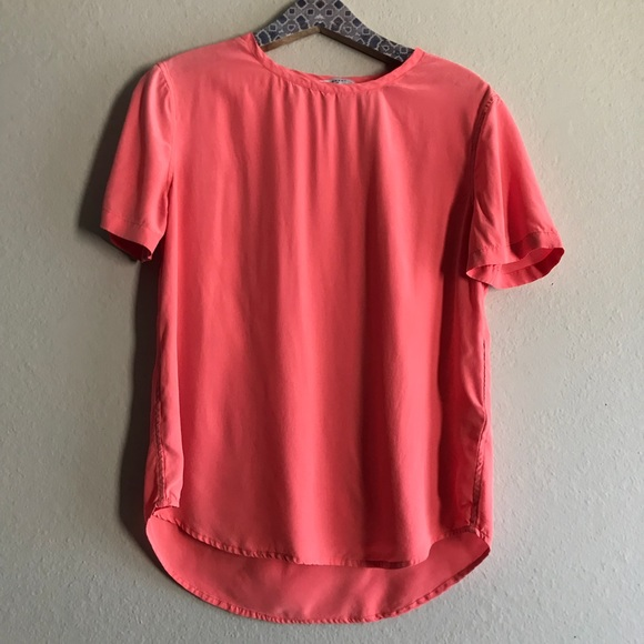 ee538536fcc9c Equipment Femme Silk Small coral silk top AS IS